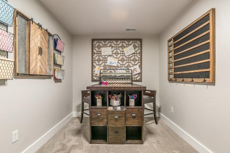 serene organized craft hobby room